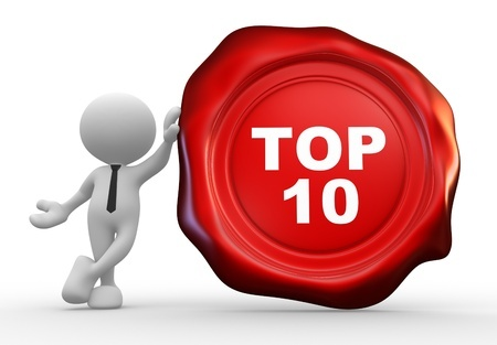 Top 10 Red Stamp